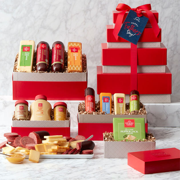 Father's Day Gourmet Meat & Cheese Gift Tower