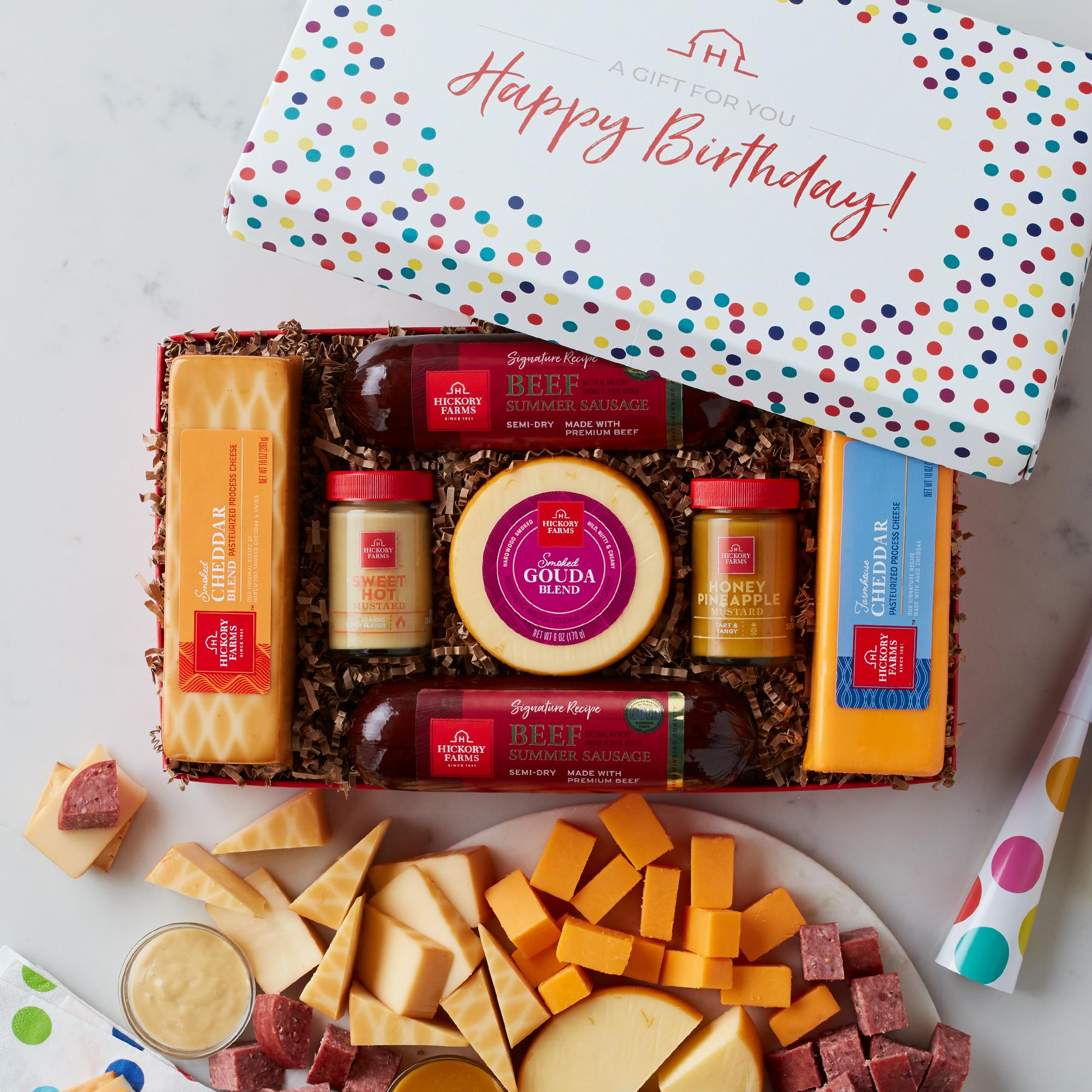 Shop birthday summer sausage & cheese gift box