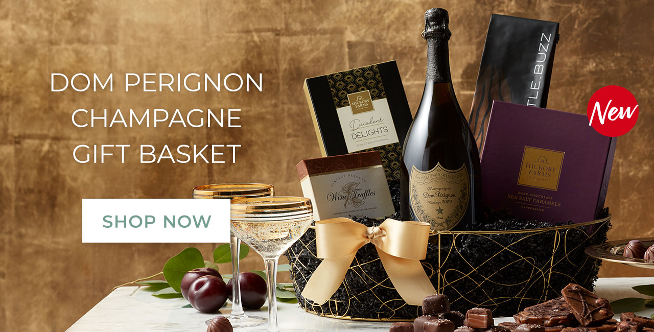 Dom Perignon champagne gift basket | Shop now