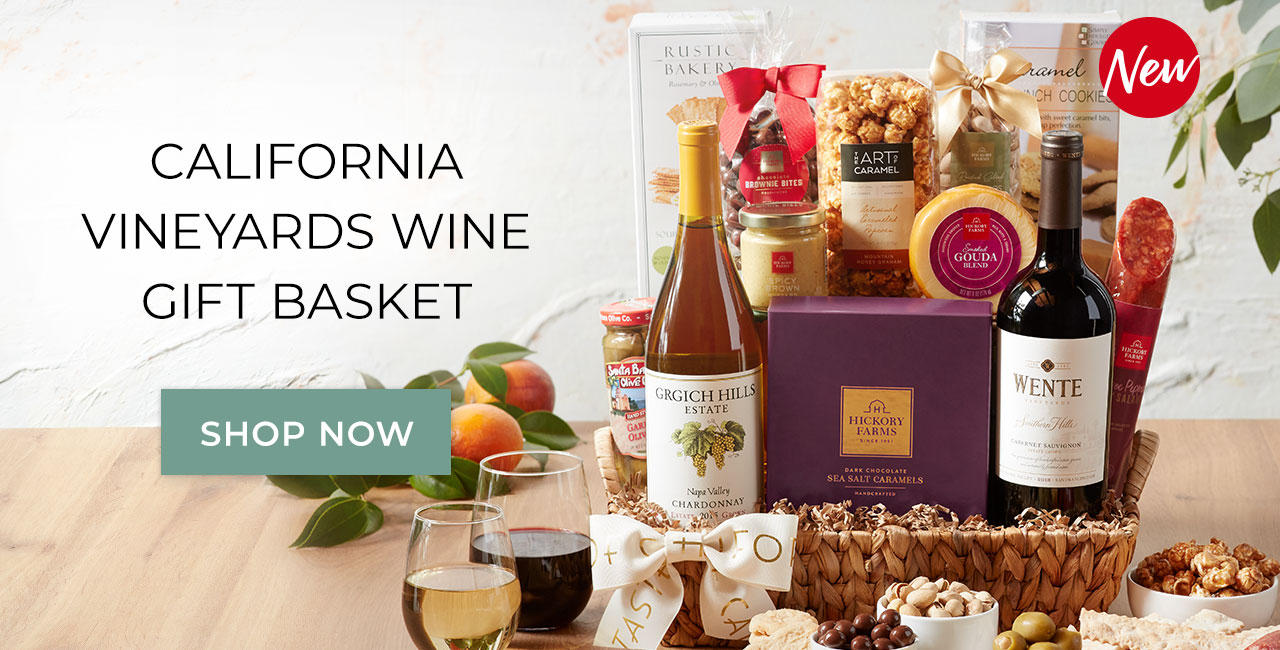 California vineyards wine gift basket | Shop now
